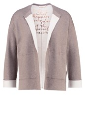 Talkabout Cardigan Taupe Light Brown