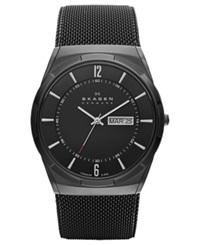 Skagen Watch Men's Black Titanium Mesh Bracelet 40Mm Skw6006