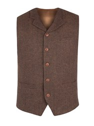 Gibson Men's Rust Herringbone Vest Copper
