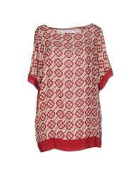 Fairly Shirts Blouses Women Maroon