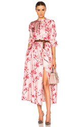 Brock Collection Disco Dress In Pink Floral Pink Floral