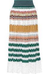 Missoni Crochet Knit Midi Skirt Saffron