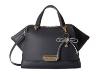 Zac Posen Eartha Iconic Jumbo Double Handle Navy Satchel Handbags