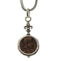 Ancient Treasures Sterling Silver Coin Necklaces With Authentic Roman Coins2475