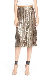 Tracy Reese Sequin Skirt Tarnished Gold