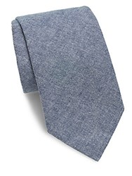 Saks Fifth Avenue Made In Italy Textured Cotton Tie Light Blue