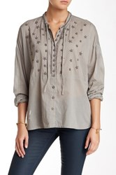 Biya Beaded Upper Blouse Gray