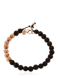 Manuel Bozzi Magma Rose Gold Plated Beaded Bracelet