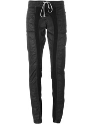 Rick Owens Drkshdw Coated Panel Skinny Trousers Black
