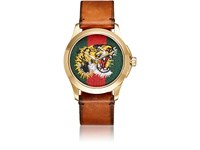 Gucci Men's Le Marche Des Merveilles Leather Watch Brown