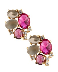 Indulgems Multi Stone Cluster Earrings Pink