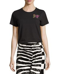 Marc Jacobs Classic Sequined Mtv Tee Ivory Black