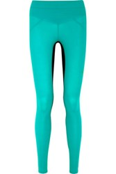 Lucas Hugh Core Performance Stretch Jersey Leggings Teal