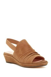 Taryn Rose Tiva Slingback Wedge Sandal Brown
