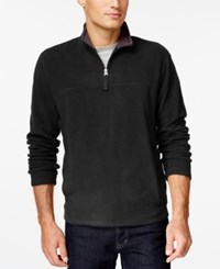 Club Room Big And Tall Quarter Zip Mock Neck Fleece Only At Macy's Deep Black