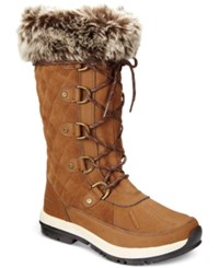 Bearpaw Women's Gwyneth Quilted Lace Up Cold Weather Boots Women's Shoes Hickory