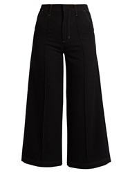 Wales Bonner Reed High Rise Wool Culottes Black