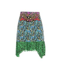 Coach Printed Silk Skirt Multicoloured