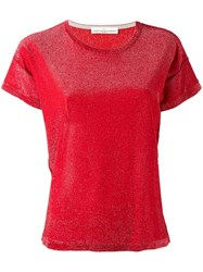 Golden Goose Deluxe Brand Glitter T Shirt Red