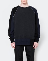 Maison Martin Margiela Oversized Mixed Crew Dark Grey
