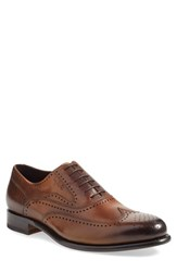 Bruno Magli Men's 'Adamo' Wingtip Cognac Leather