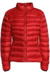 Perfect Moment Quilted Shell Coat Red