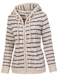 Fat Face Alicia Striped Hoodie Ivory