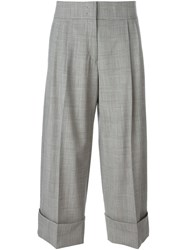 Antonio Marras Checked Wide Leg Cropped Trousers Black