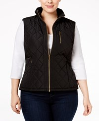 Calvin Klein Plus Size Lightweight Quilted Vest Black
