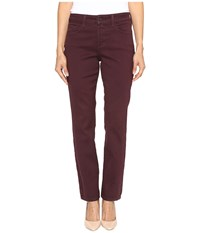 Nydj Petite Sheri Slim In Super Sculpting Denim In Brandywine Brandywine Women's Jeans Burgundy