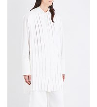 Dion Lee Strip Panel Cotton Canvas Shirt White