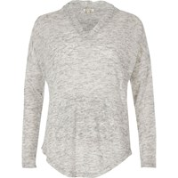 River Island Womens Light Grey Lightweight Hoodie