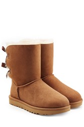 Ugg Australia Short Bailey Bow Suede Boots Brown