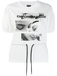 Emporio Armani Photographic Print T Shirt White