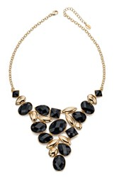 Fiorelli Costume Black And Gold Bib Necklace