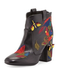 Laurence Dacade Pete Embroidered Leather Western Boot Black Pattern