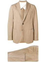 Doppiaa Slim Single Breasted Suit Brown