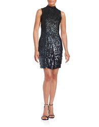 French Connection Starlight Sequined Bodycon Dress Gunmetal