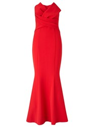 Ariella Katinka Structured Strapless Dress