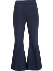Ellery Cropped Flared Trousers Blue