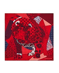 Turnbull And Asser Giant Paisley Bulldog Pocket Square Red