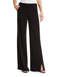 A.L.C. Miles Stretch Crepe Wide Leg Pants Black