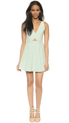 Alice Olivia Nina Cutout Box Pleat Dress Aqua