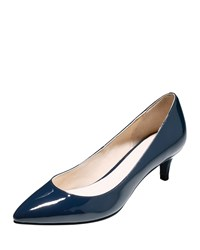 Juliana Patent Low Heel Pump Blazer Blue Cole Haan