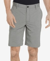 G.H. Bass And Co. Men's Cliff Peak Classic Fit Stretch Performance Heather Hybrid Shorts Neutral Grey