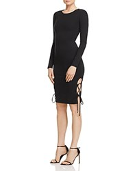 Finders Keepers Weston Lace Up Dress Black