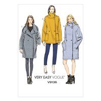 Vogue Women's Very Easy Coat Sewing Pattern 9136