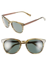 Ted Baker 53Mm Round Sunglasses Green Horn