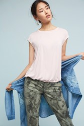 Anthropologie Bubbled Shell Top Pink