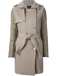 Hotel Particulier Padded Panel Coat Nude And Neutrals